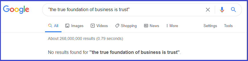 The true foundation of business is trust
